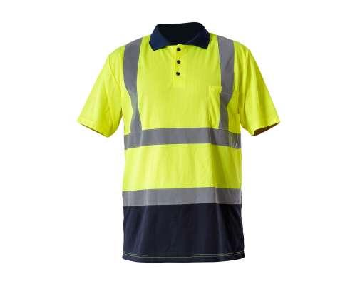 Koszulka polo ostrzegawcza żółta Lahti Pro L40302