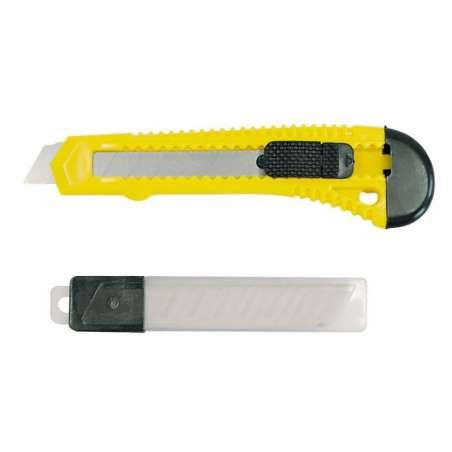 Nóż z ostrzem łamanym 18mm + 10 ostrzy Mega 30019