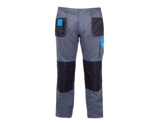 Spodnie szaro-niebieskie bawełna Lahti Pro L40504