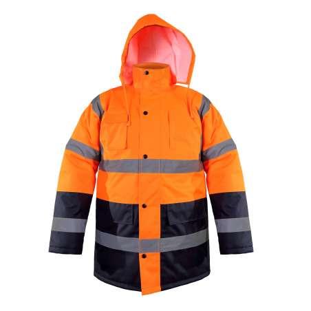 Zimowa kurtka ostrzegawcza pomarańczowa Lahti Pro L40906