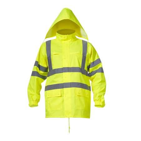 Kurtka przeciwdeszczowa ostrzegawcza żółta S Lahti Pro L4091301