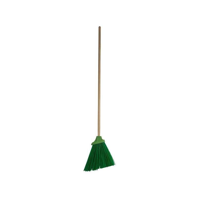 szczotka gospodarcza drewniany trzon 120cm zielona profix 32060