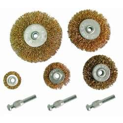 szczotki druciane 25-75mm zestaw 8el. trzpienie mega 32200