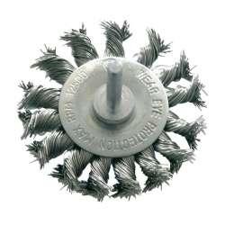 szczotka tarczowa z drutu skręcanego z trzpieniem 75mm proline 32447