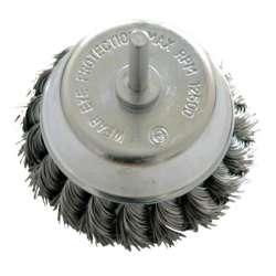 szczotka doczołowa z drutu skręcanego z trzpieniem 75mm proline