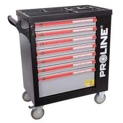 szafka narzędziowa 7 szuflad 79x49x101cm w wyp. 206el. proline 33128