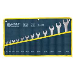 klucze płaskie 6-32mm zestaw 12el. mega 34432