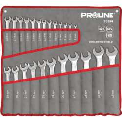 klucze płaskie oczkowe zestaw 24el. 6-32mm din3113 proline 35324