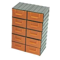 organizer szufladki 10szt 21x30x12cm profix 35801