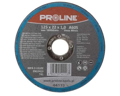 Tarcza do cięcia metali 125x1,0x22mm Proline 44113