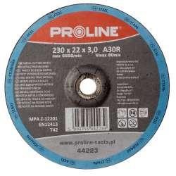 Tarcza do cięcia metali wypukła 230x30mm Proline 44223