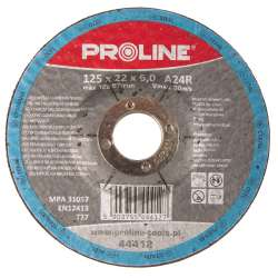 Tarcza do szlifowania metali wypukła 125x6,0mm Proline 44412
