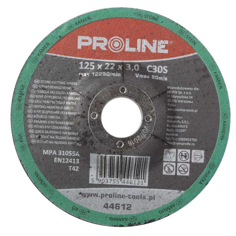 Tarcza do cięcia kamienia wypukła 125x3,0mm Proline 44612
