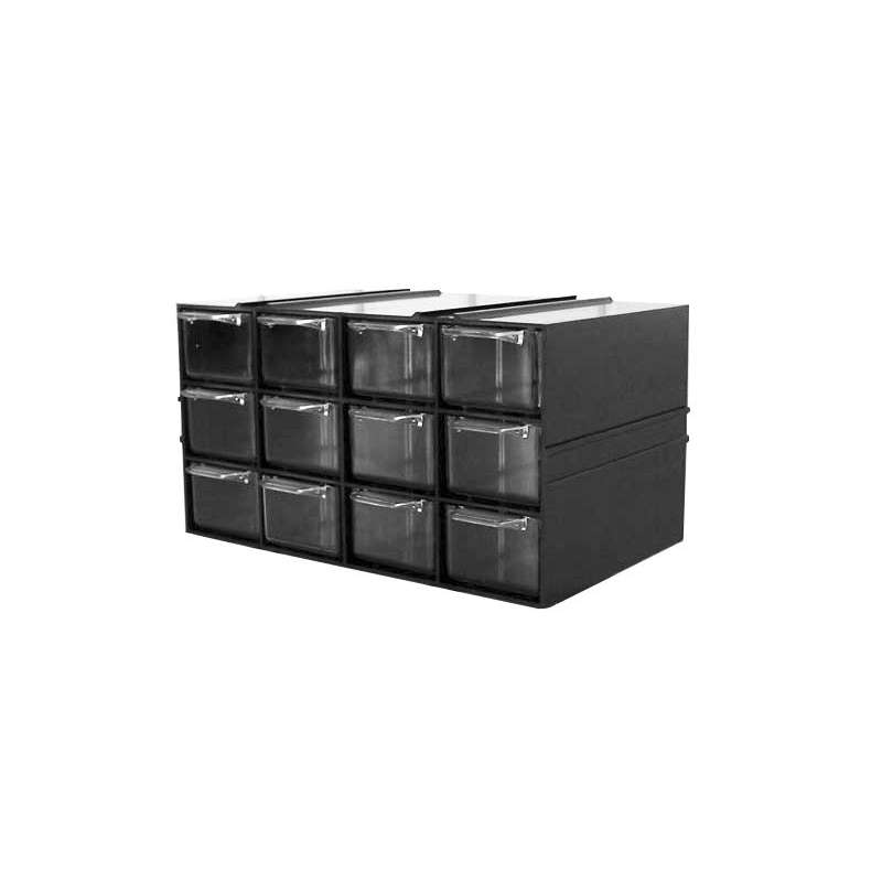 szafka plastikowa z szufladkami px 12 szufladek profix 35806