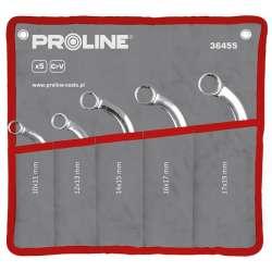 klucze oczkowe typu c crv zestaw 5el 10-19mm proline 36455