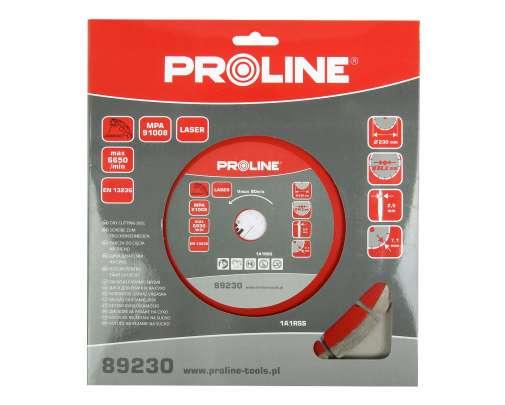 Tarcza diamentowa segmentowa Laser 230x2.5x22mm Proline