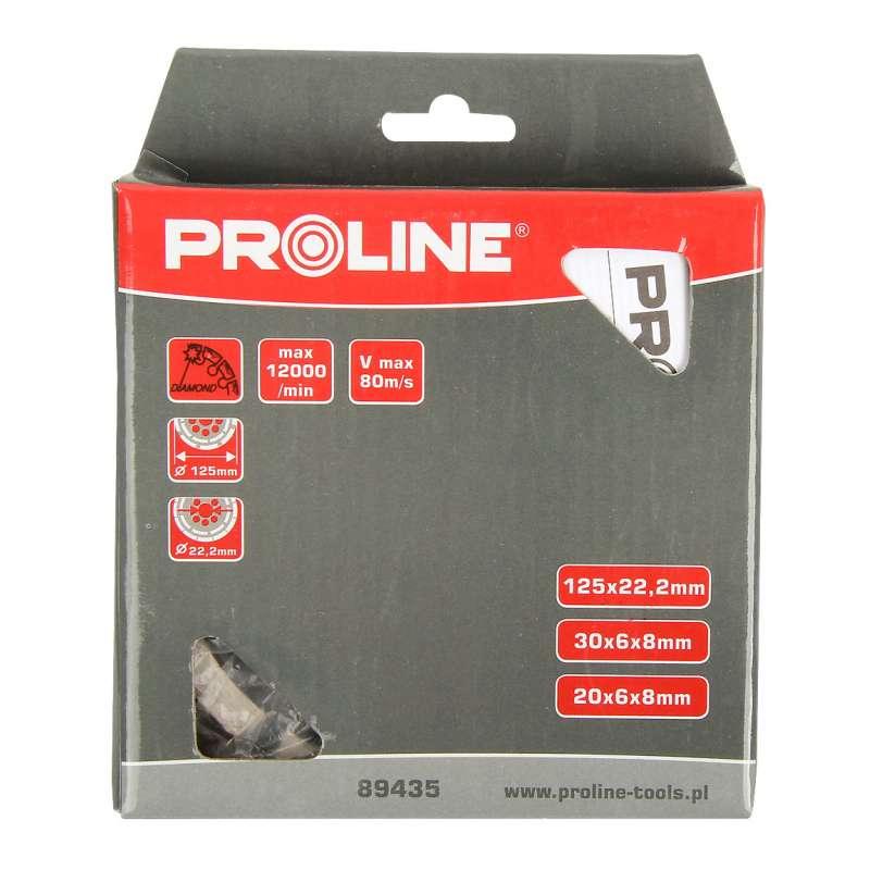Tarcza diamentowa segmentowa do szlifowania podwójny segment 125mm Proline 89435
