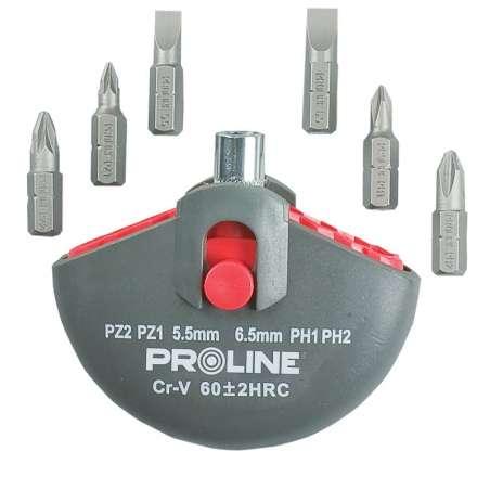 Zestaw bitów wkrętak 7el. Proline 10697