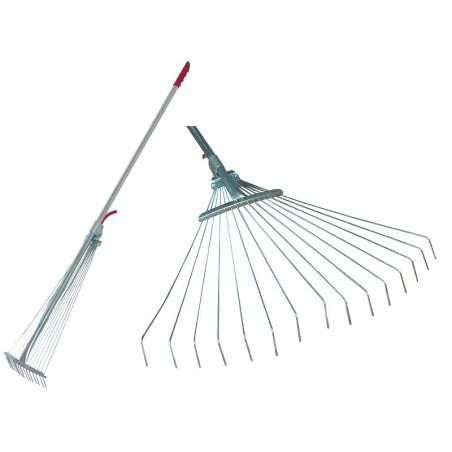 Grabie druciane regulowane do trawy i liści 20-65cm Mega 40090