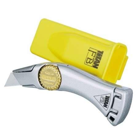 Nożyk metalowy TITAN ostrze trapezowe Stanley 105502