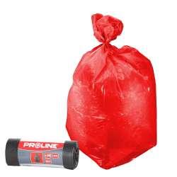 Worki czerwone na Al Ldpe 120l 10 sztuk Proline 41204