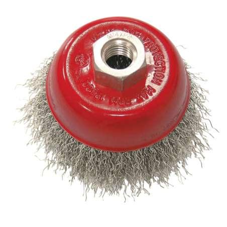 Szczotka doczołowa z drutu falowanego M14 100mm Proline