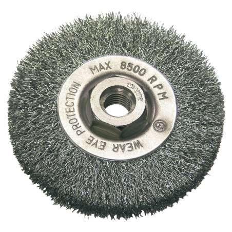 Szczotka tarczowa z drutu falowanego z gwintem M14 115mm Proline 32521