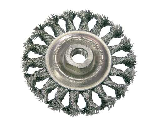 Szczotka tarczowa z drutu skręcanego M14 125mm Proline