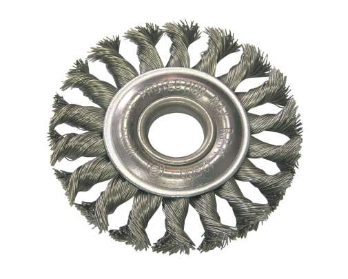 Szczotka tarczowa z drutu skręcanego z otworem 22mm 115mm Proline 32551