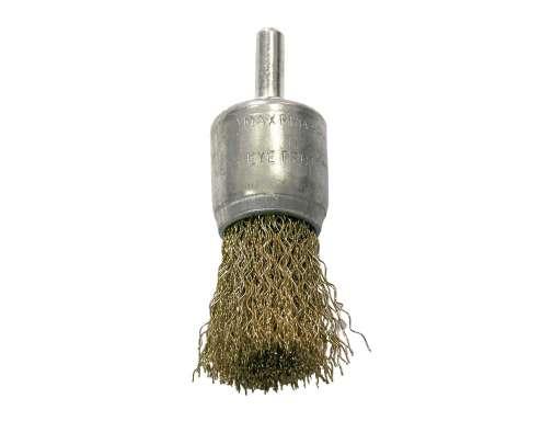 Szczotka pędzelkowa z drutu falowanego miedziowanego z trzpieniem 24mm Proline