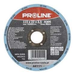 Tarcza do cięcia metalu 115-230mm otwór 22mm Proline 44110