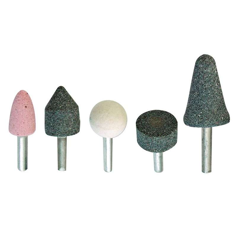 Kamienie szlifierskie trzpień 6mm 5 elementów Mega 44905