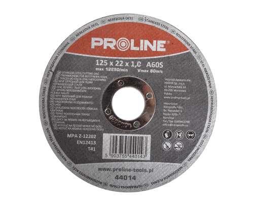 Tarcza do cięcia stali kwasoodpornej 180x1,2x22mm Proline 44018