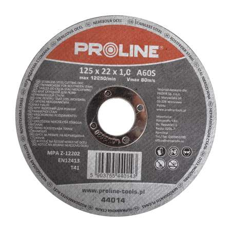 Tarcza do cięcia stali kwasoodpornej 400x4,0x32mm Proline 44040