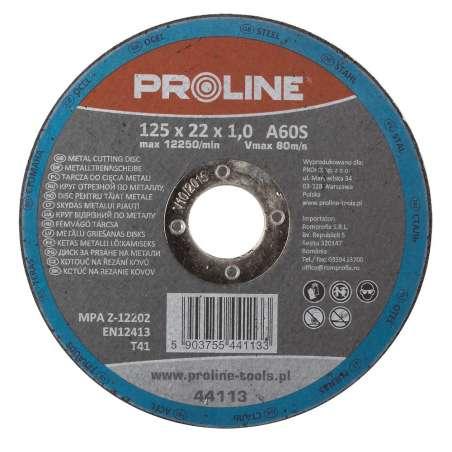 Tarcza do cięcia metali 115x2,5x22mm Proline 44111