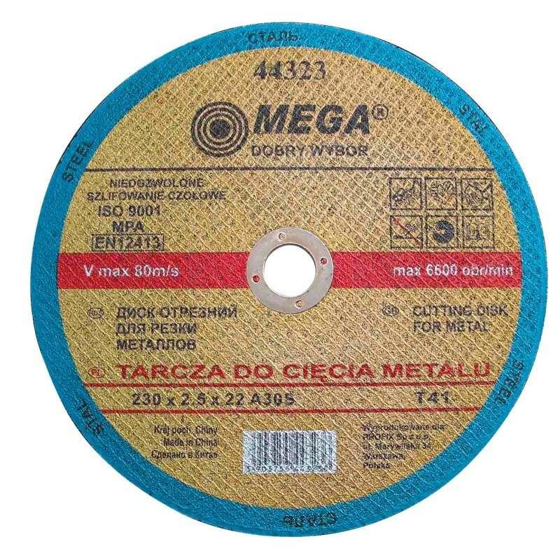 Tarcza do cięcia metalu T41 230x2,5x22A30S Mega 44323