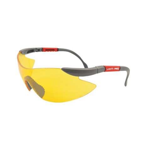 Okulary ochronne żółte z filtrem UV F1 Lahti Pro 46039
