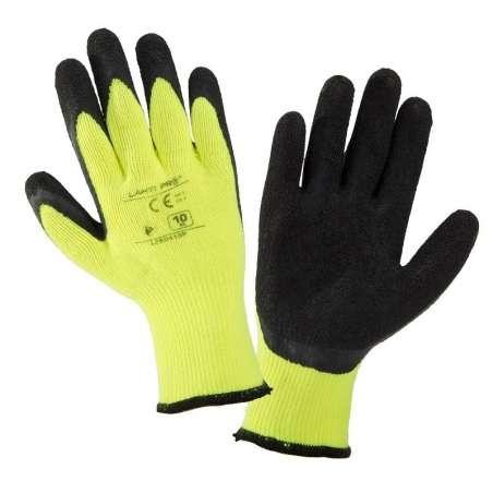 Rękawice ocieplane lateksowe żółto czarne Lahti Pro L2504