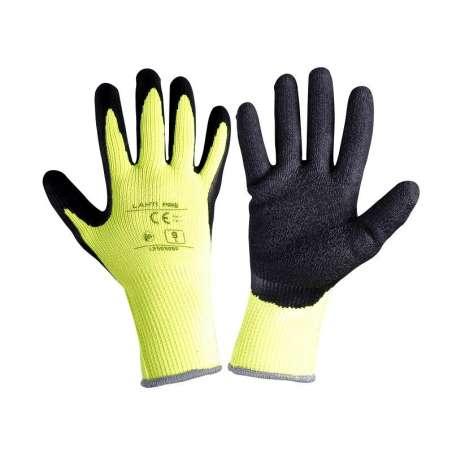 Rękawice ocieplane lateksowe żółto czarne Lahti Pro L2505