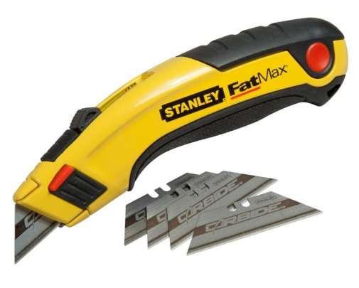 nóż metalowy z ostrzem chowanym plus 5 ostrzy carbide stanley fatmax rb 7-10-778