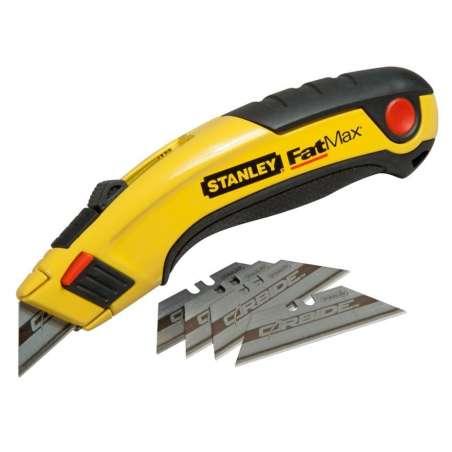 Nóż metalowy z ostrzem chowanym plus 5 ostrzy Carbide  FatMax RB Stanley 107787