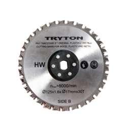 tarcza tnąca tct 125 mm do pilarki dwutarczowej tpd860k tryton eatpd01