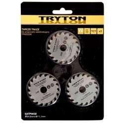 Zestaw tarcz TCT do przecinarki Tryton TPW500K 3sztuki do cięcia drewna Tryton EATPW02