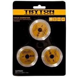 zestaw tarcz diamentowych do przecinarki tryton tpw500k 3sztuki do cięcia płytek ceramicznych