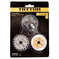 Zestaw tarcz HSS TCT diamentowa do przecinarki Tryton TPW500K 3 sztuki Tryton EATPW04