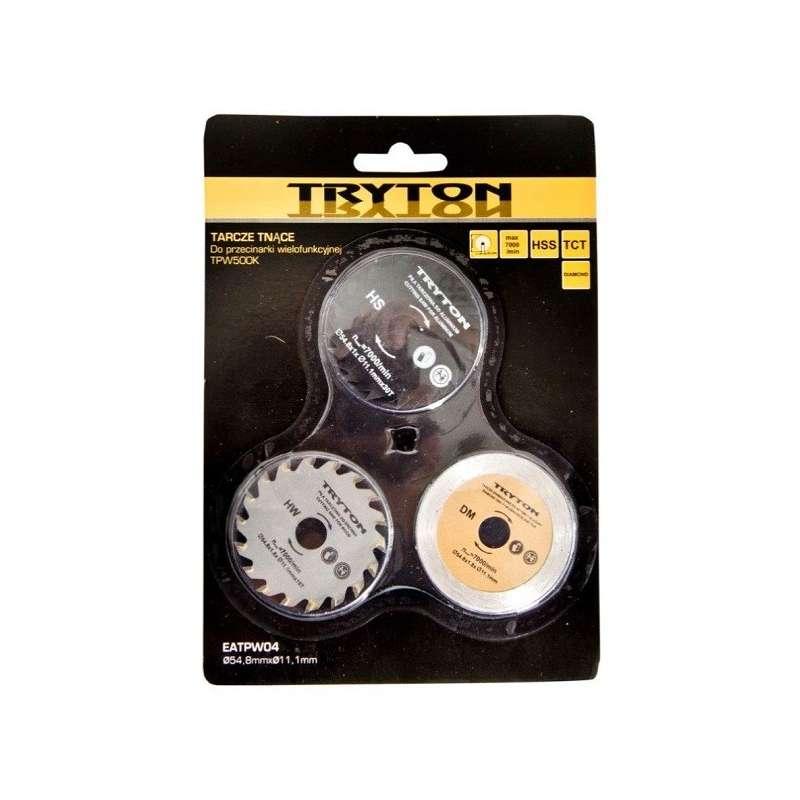 zestaw tarcz hss tct diamentowa do przecinarki tryton tpw500k 3sztuki