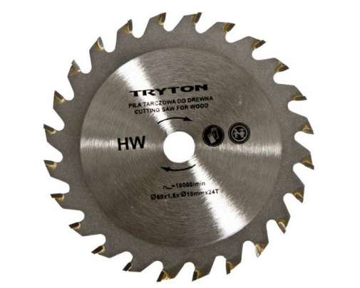 zestaw tarcz tct do przecinarki tryton tpw600k 3sztuki do cięcia drewna