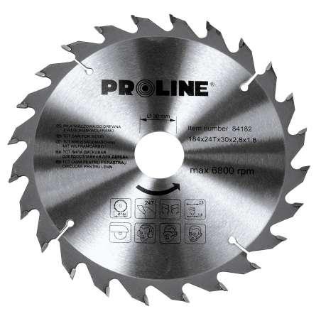 Piła tarczowa z węglikiem spiekanym do drewna 184 mm 36 zębów Proline 84183