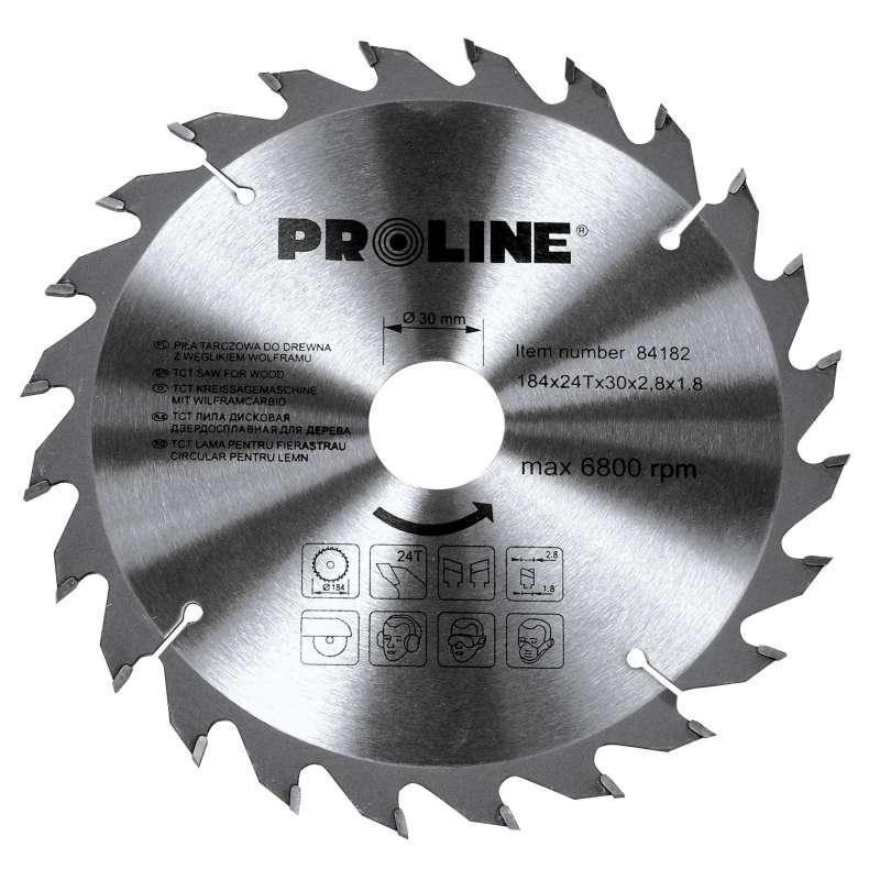 Piła tarczowa z węglikiem spiekanym do drewna 184 mm 60 zębów Proline 84186