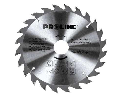 Piła tarczowa z węglikiem spiekanym do drewna 205 mm 24 zęby Proline 84207